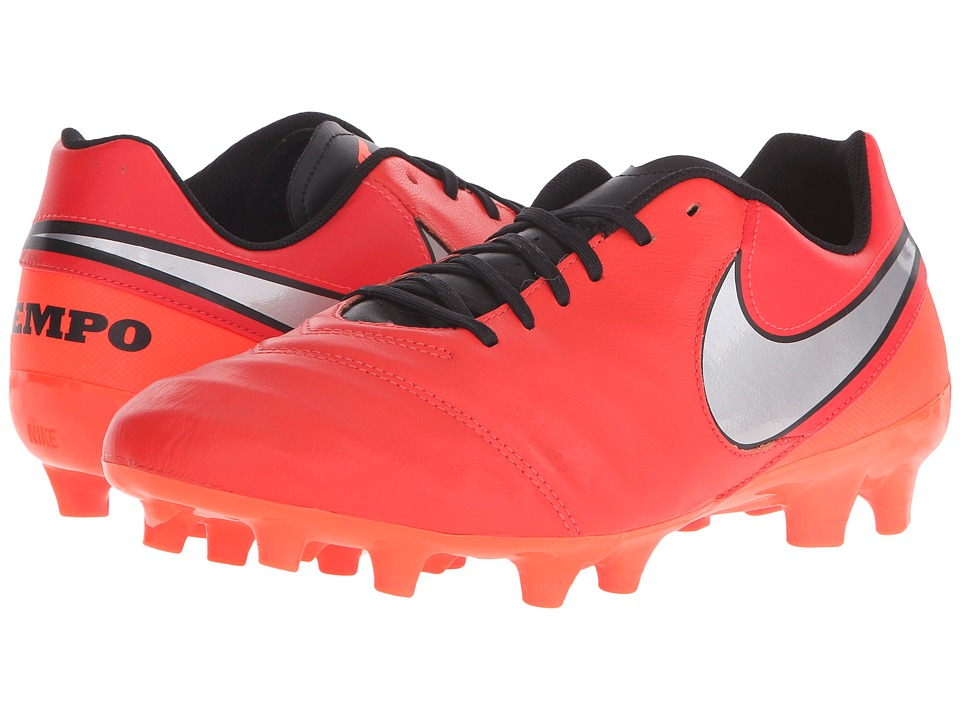 Nike - Tiempo Genio II Leather FG (Light Crimson/Total Crimson/Metallic Silver) Men's Soccer Shoes