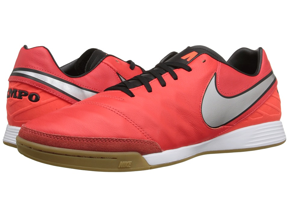 Nike - Tiempo Mystic V IC (Light Crimson/Total Crimson/Metallic Silver) Men's Soccer Shoes