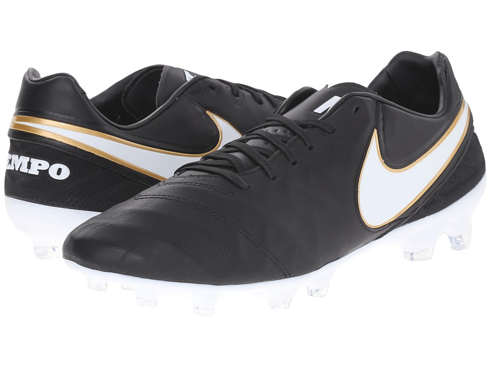 Nike - Tiempo Legacy II FG (Black/White) Men's Soccer Shoes