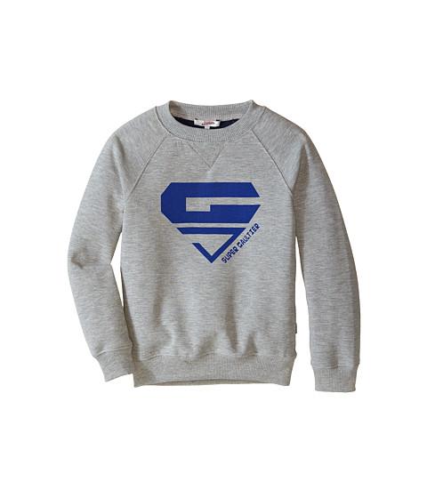 Junior Gaultier - Peeter Logo Sweater (Big Kid) (Light Grey Chine) Boy