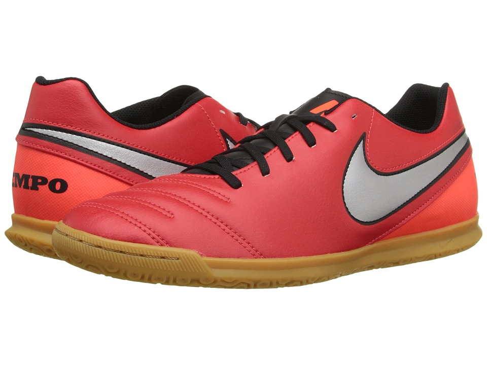 Nike - Tiempo Rio III IC (Light Crimson/Total Crimson/Metallic Silver) Men's Soccer Shoes