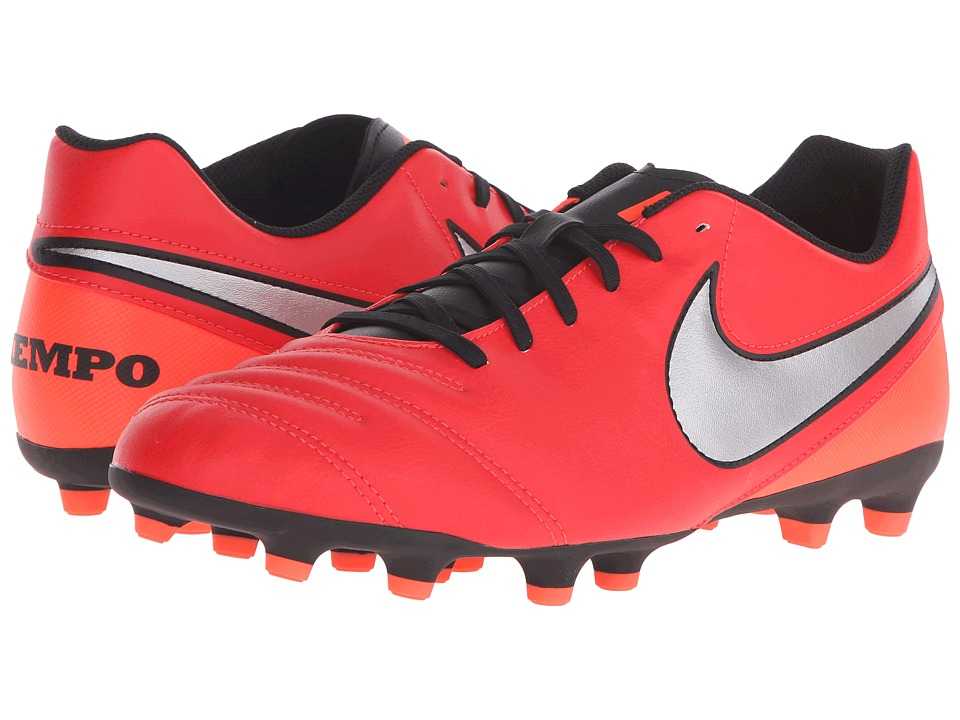 Nike - Tiempo Rio III FG (Light Crimson/Total Crimson/Metallic Silver) Men's Soccer Shoes
