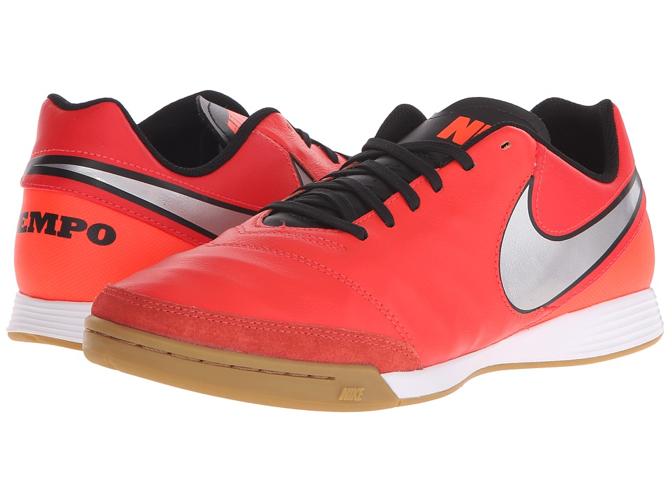 Nike - Tiempo Genio II Leather IC (Light Crimson/Total Crimson/Metallic Silver) Men's Soccer Shoes