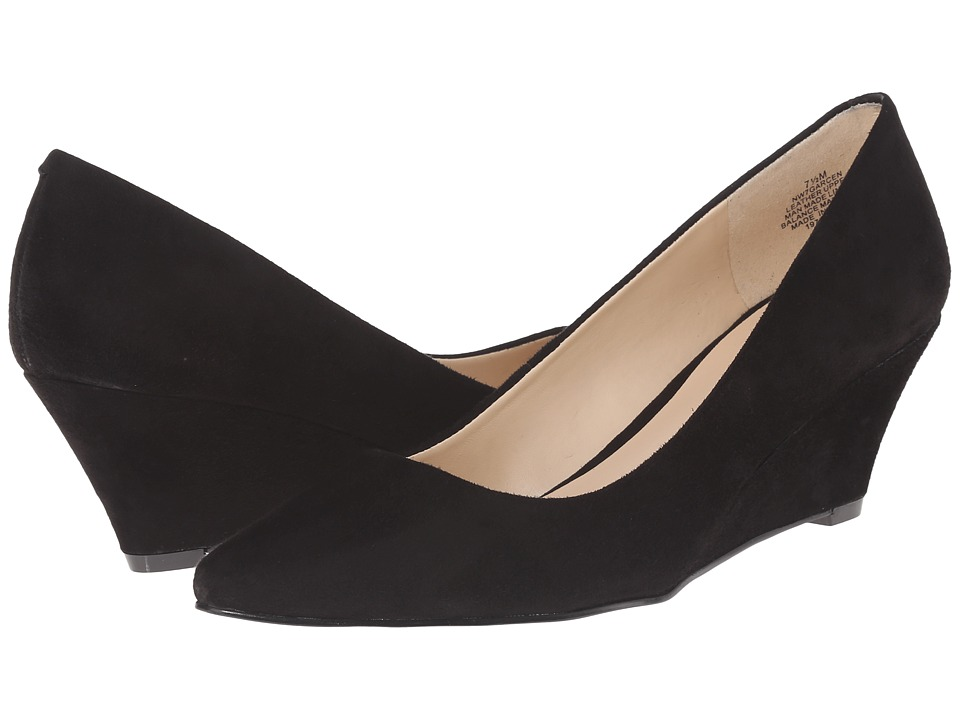 Nine West - Garcen (Black Suede) Women's Wedge Shoes