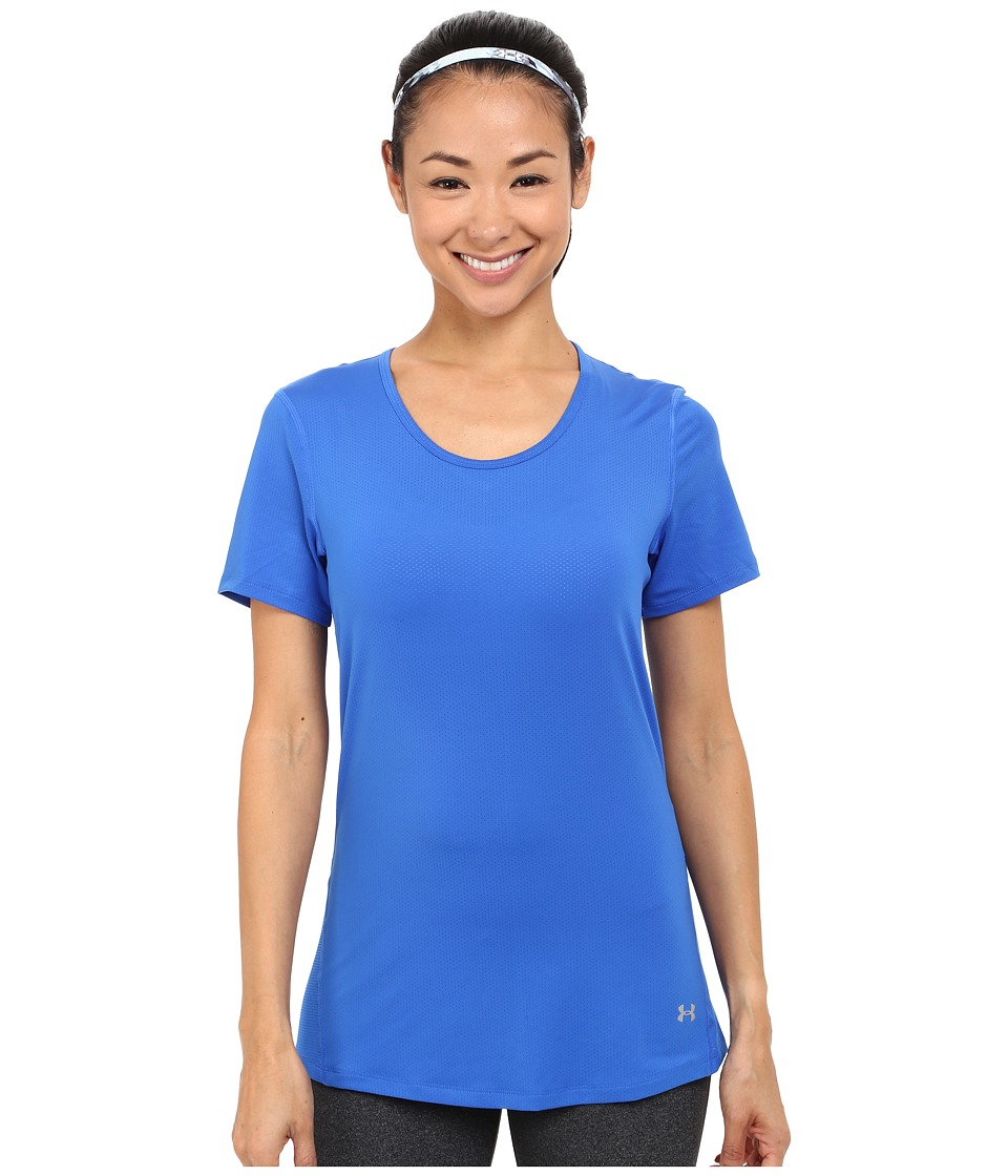 Under Armour - HeatGear(r) Coolswitch Short Sleeve Top (Ultra Blue/Metallic Silver) Women's Workout