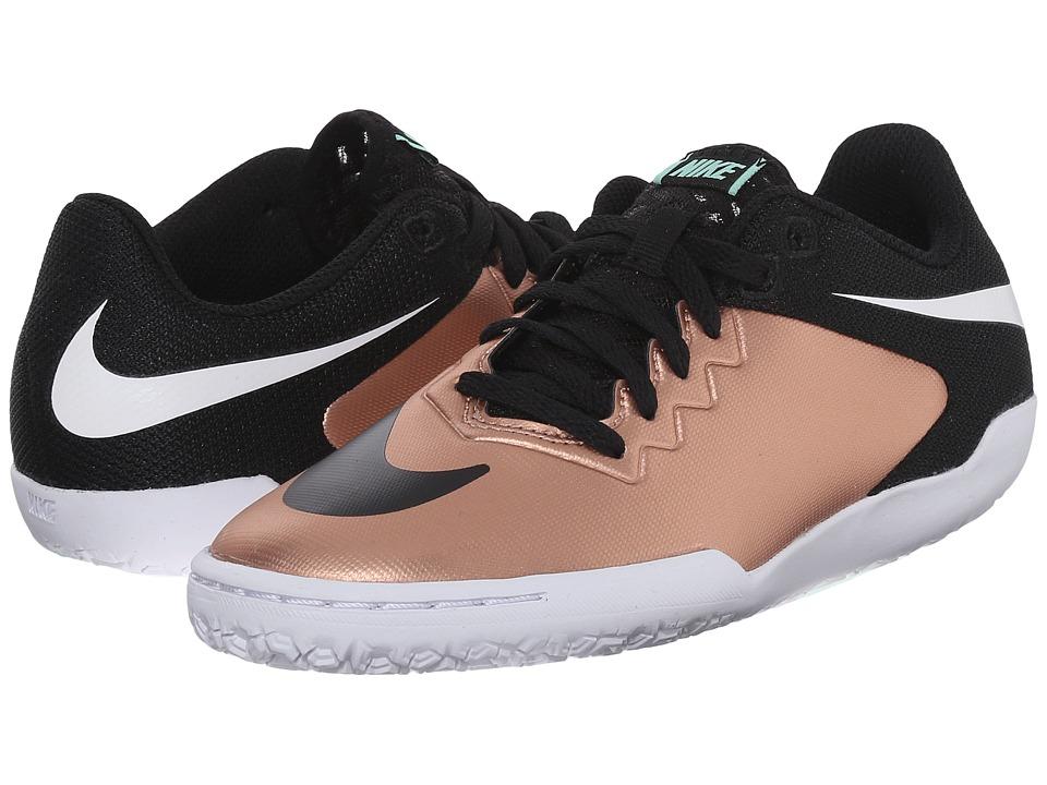Nike Kids - JR Hypervenomx Pro IC Soccer (Little Kid/Big Kid) (Metallic Red Bronze/Green Glow/White/Black) Kids Shoes