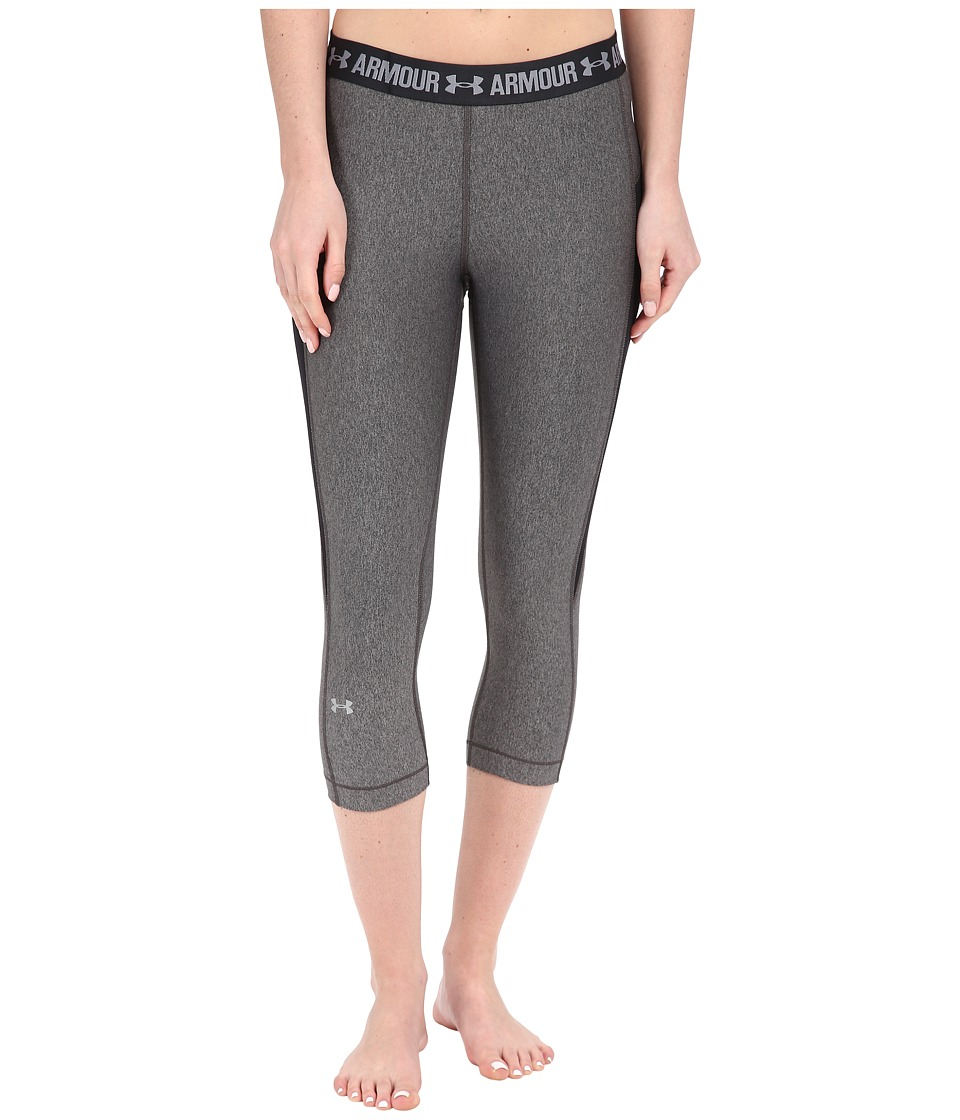 Under Armour - HeatGear(r) Coolswitch Capris (Carbon Heather/Black/Metallic Silver) Women's Capri