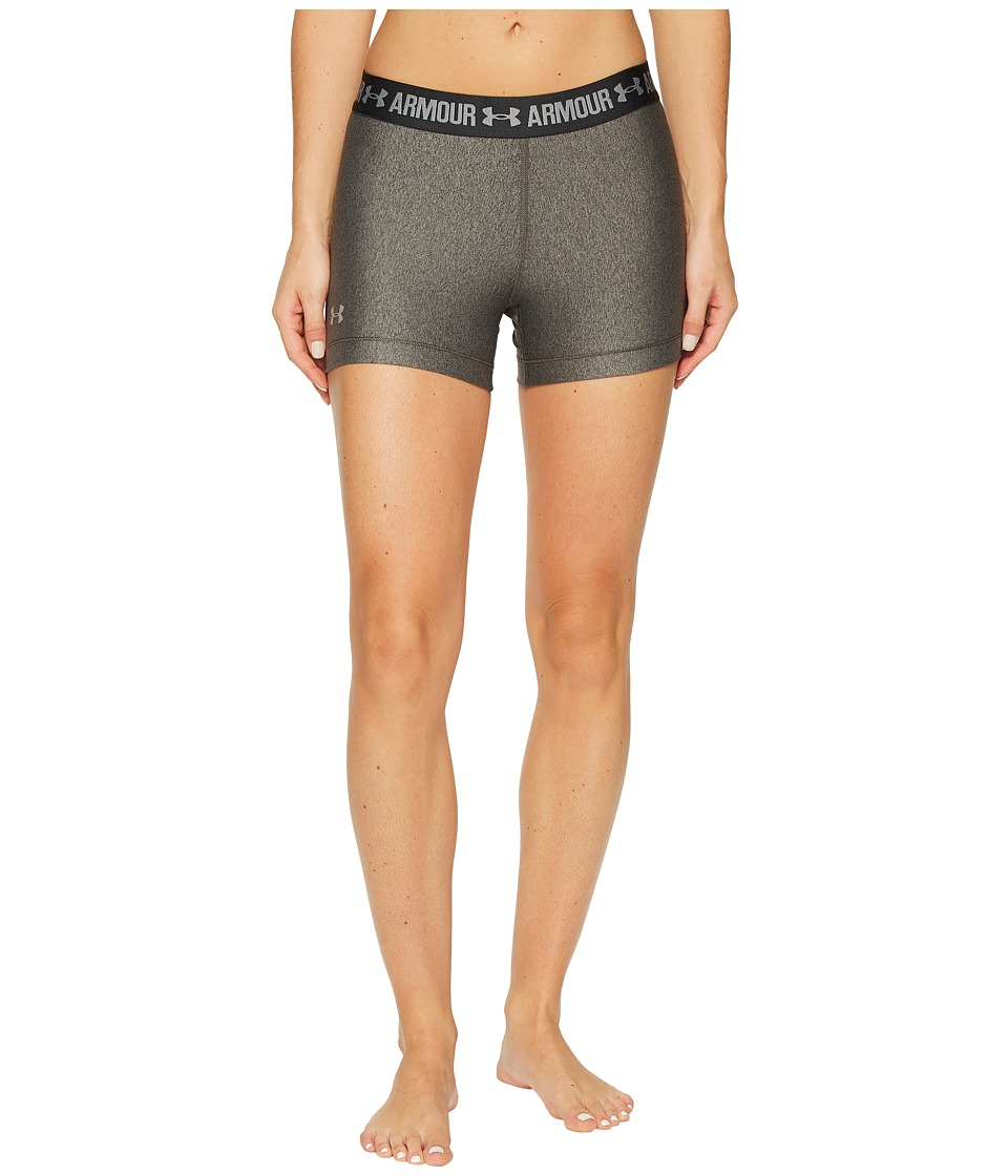 Under Armour - HeatGear(r) Armour 3 Shorty (Carbon Heather/Anthracite/Metallic Silver) Women's Shorts