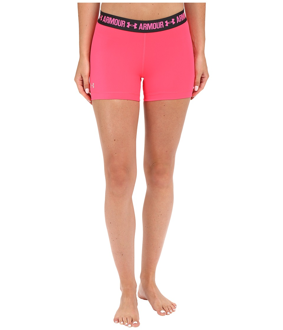 Under Armour - HeatGear(r) Armour 3 Shorty (Harmony Red/Anthracite/Metallic Silver) Women's Shorts