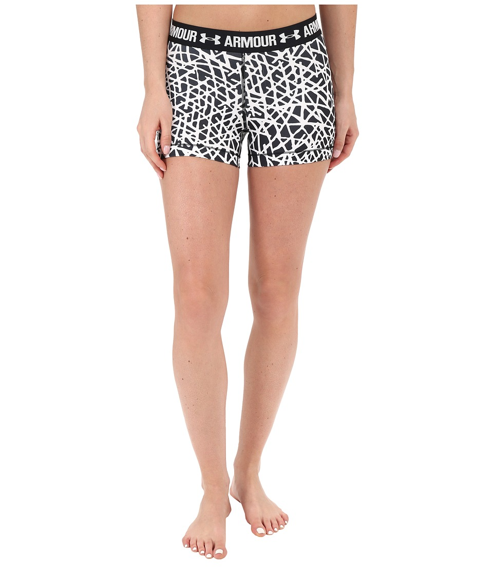 Under Armour - HeatGear(r) Armour 3 Printed Shorty (Black/Black/Metallic Silver City Slash) Women's Shorts