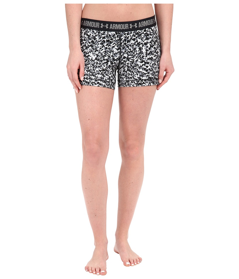 Under Armour - HeatGear(r) Armour 3 Printed Shorty (White/Steel/Metallic Silver Berlin Blur) Women's Shorts