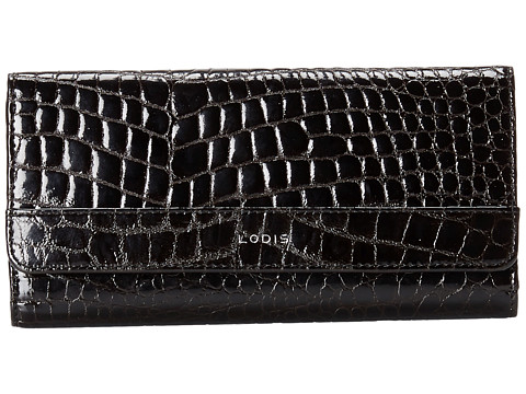 Lodis Accessories - Small Flap Continental Wallet (Black) Wallet Handbags