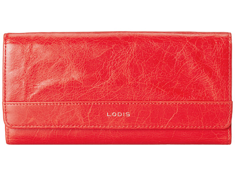 Lodis Accessories - Small Flap Continental Wallet (Red) Wallet Handbags