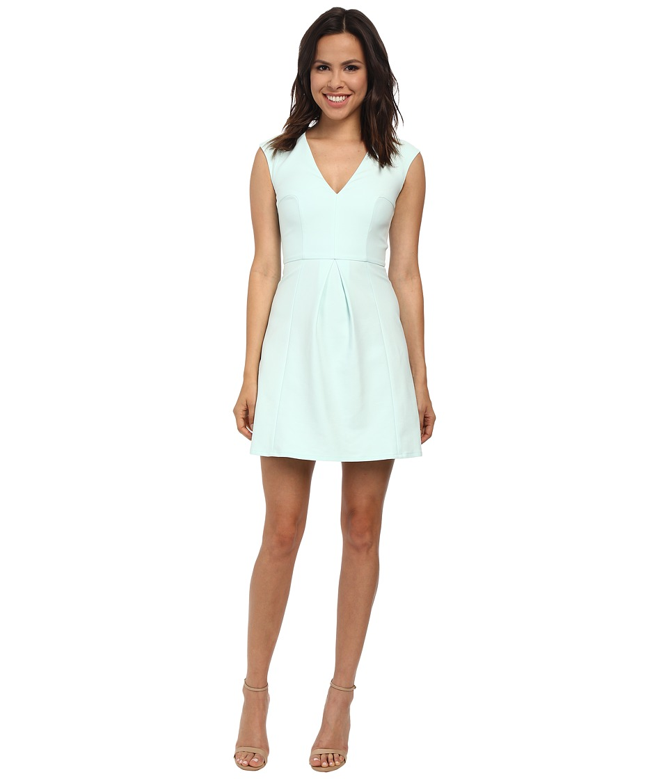 French Connection - Classic Capri Cotton V-Neck Dress 71DQE (Fresh Aqua) Women's Dress