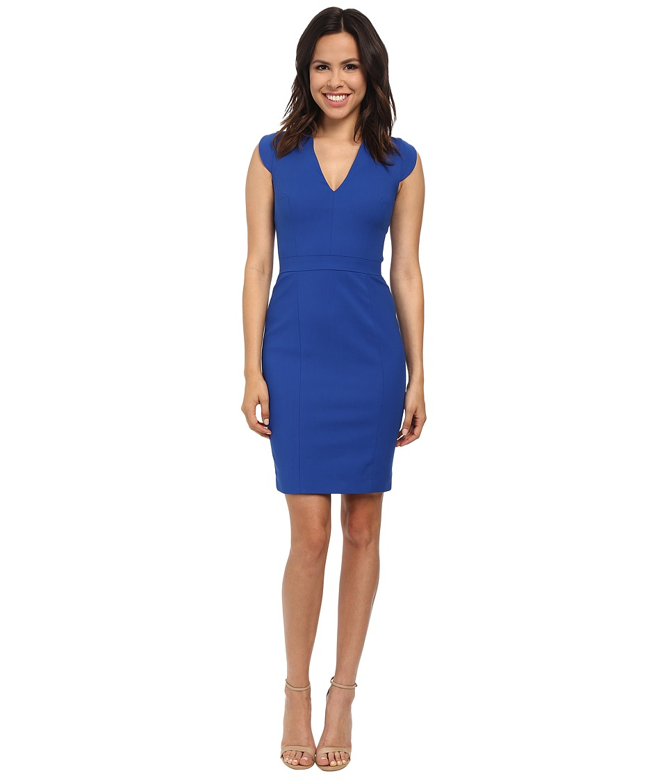 French Connection - Lolo Stretch Sleeveless Dress 71GZO (Electric Blue) Women's Dress