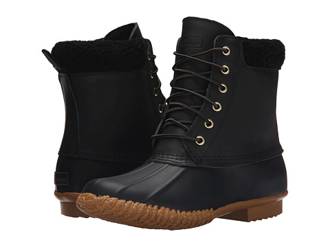 SKECHERS - Duck Boot (Black) Women's Lace-up Boots