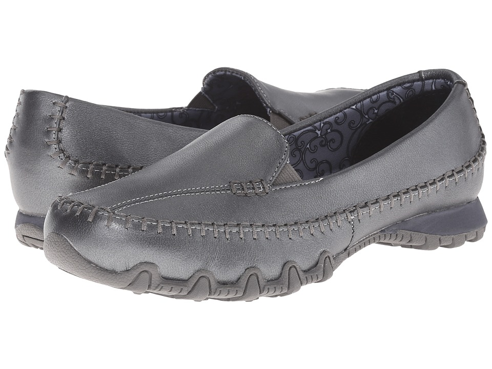 SKECHERS - Bikers - Metal (Pewter) Women's Slip on Shoes