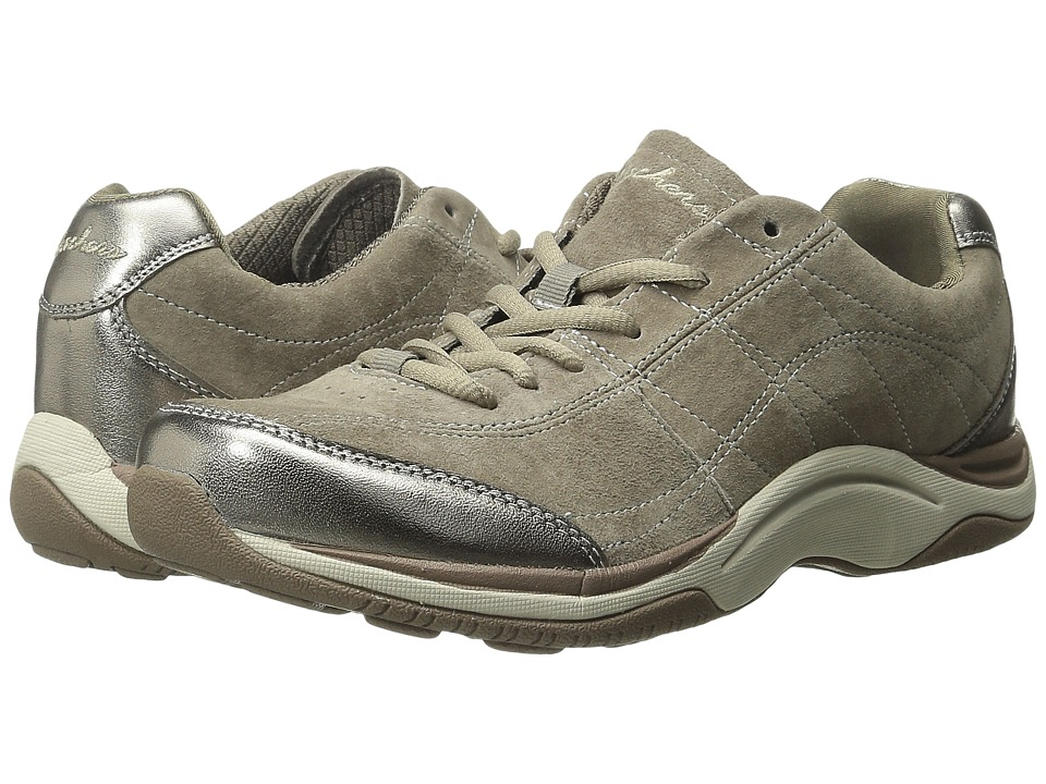 SKECHERS - Pedometer - Keep Movin' (Dark Taupe) Women's Lace up casual Shoes
