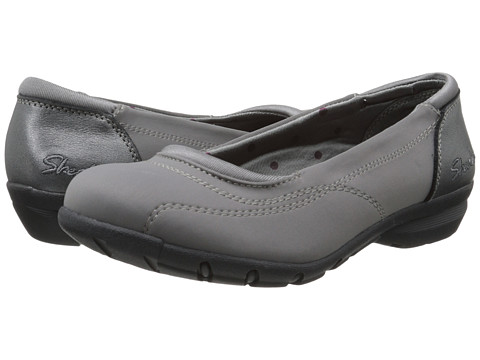 SKECHERS - Career - President (Charcoal) Women's Slip on Shoes
