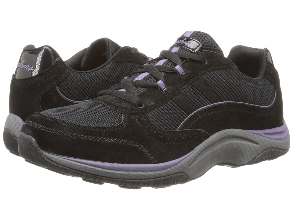SKECHERS - Pedometer (Black) Women's Lace up casual Shoes