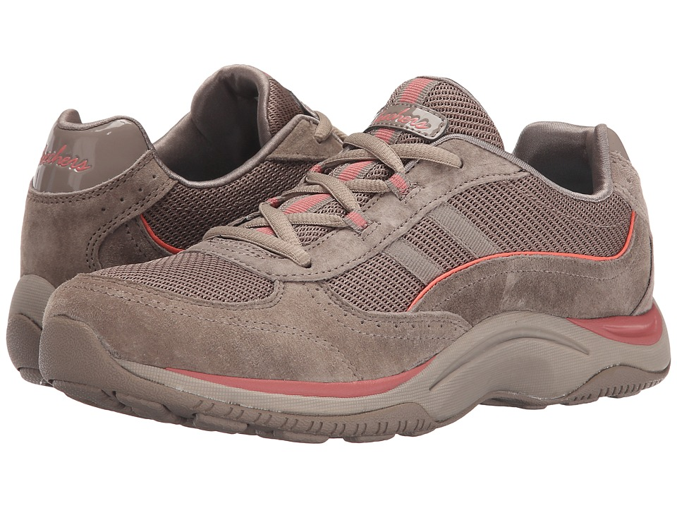 SKECHERS - Pedometer (Dark Taupe) Women's Lace up casual Shoes