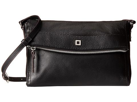 Lodis Accessories - Small Nadia Top Zip Crossbody (Black) Cross Body Handbags