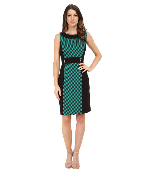 Tahari by ASL - Leon - Q Dress (Black/Green) Women's Dress