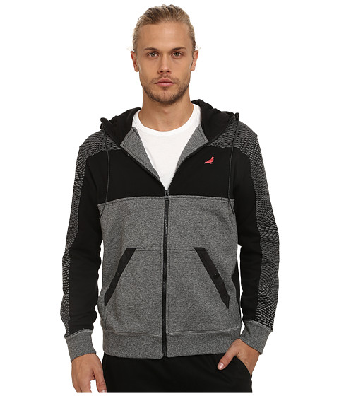 Staple - Fallout Zip Hoodie (Gray) Men's Sweatshirt