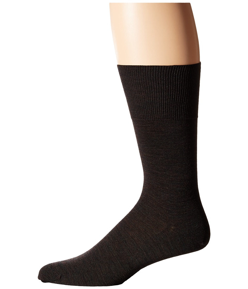 Falke - Airport Crew Socks (Dark Brown) Men's Low Cut Socks Shoes
