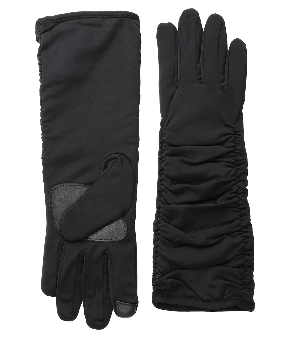 Echo Design - Touch Long Rouched Superf (Black) Dress Gloves