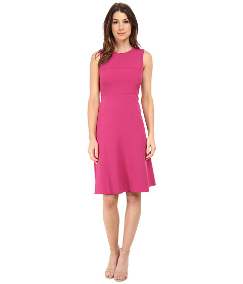 Anne Klein - Stretch Crepe Fit Flare Dress (Fuchsia) Women's Dress
