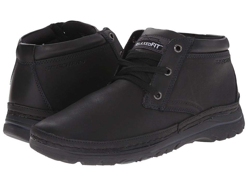 SKECHERS - Selected Renton (Black) Men's Shoes