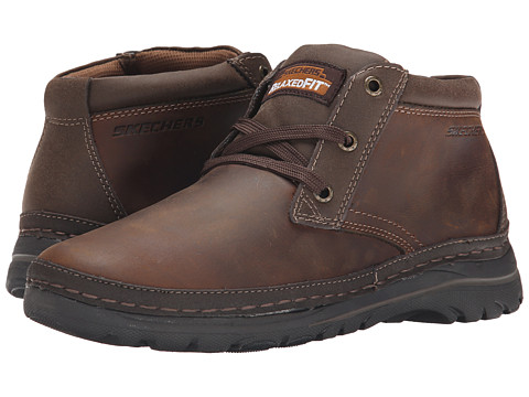 SKECHERS - Selected Renton (Dark Brown) Men's Shoes