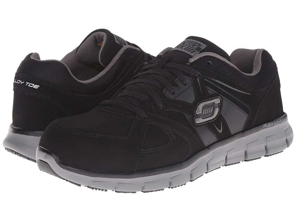SKECHERS Work - Synergy Ekron (Black Grey) Men's Work Boots