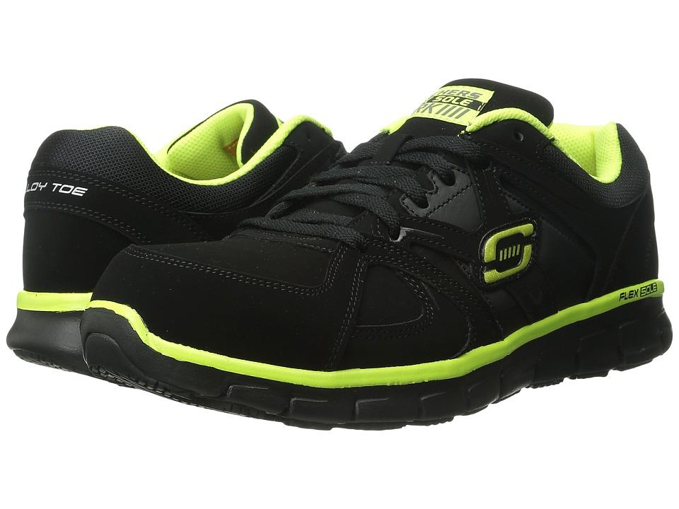SKECHERS Work - Synergy Ekron (Black Lime) Men's Work Boots