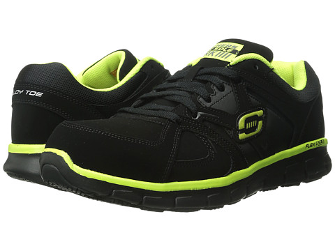 SKECHERS Work - Synergy Ekron (Black Lime) Men