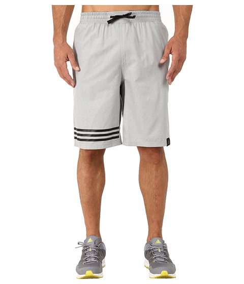 adidas - Standard One Street Shorts (Medium Grey/Green) Men's Shorts
