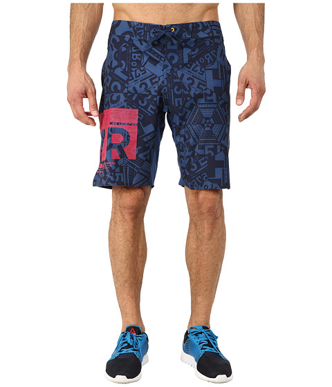 Reebok - ONE Series Shorts Kaleidoscope (Batik Blue) Men