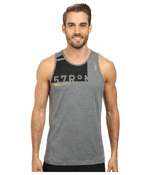 Reebok - ONE Series Triblend Tank Top (Gravel) Men