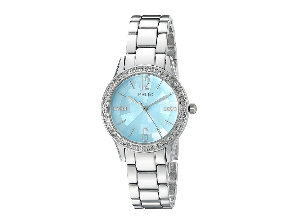 Relic - Stacy (Silver Tone/Blue Mother-of-Pearl) Watches