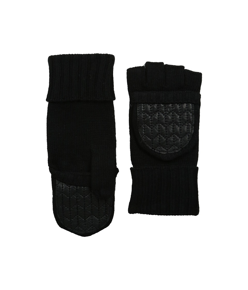 LAUREN Ralph Lauren - Quilted Nappa Glove Mitt (Black 1) Dress Gloves