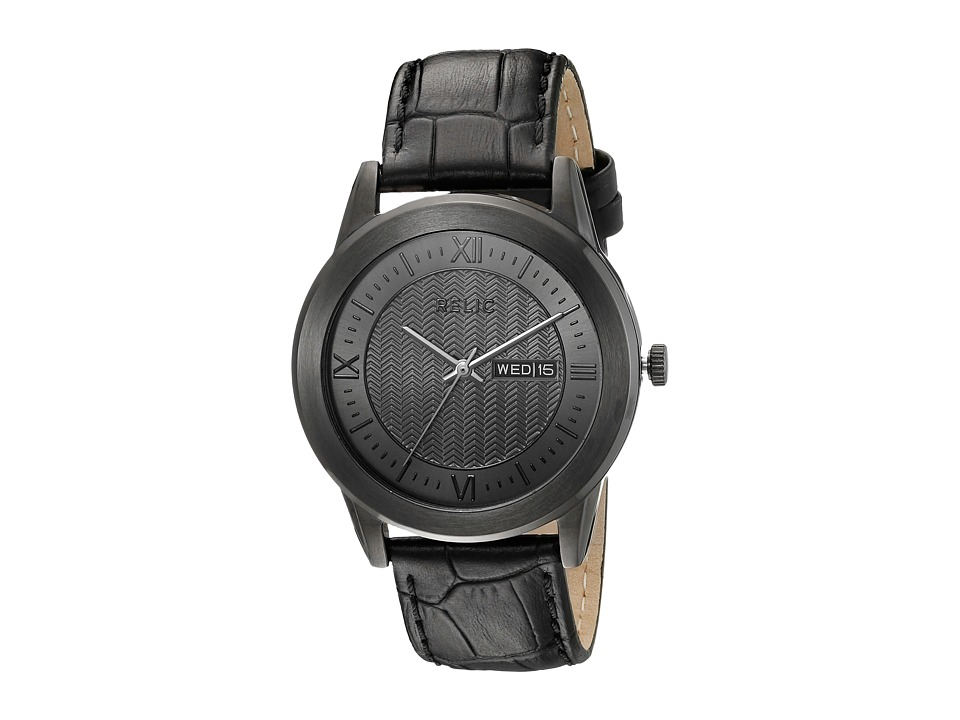 Relic - Caldwell (Gunmetal/Brown) Watches
