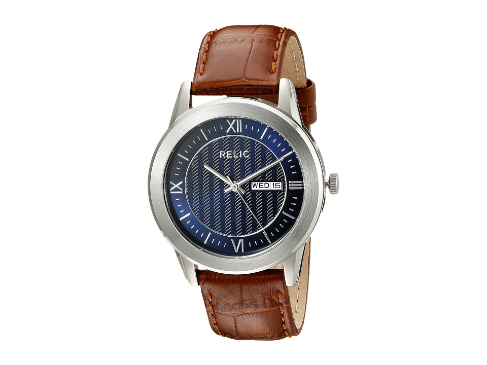 Relic - Caldwell (Steel/Blue/Brown) Watches