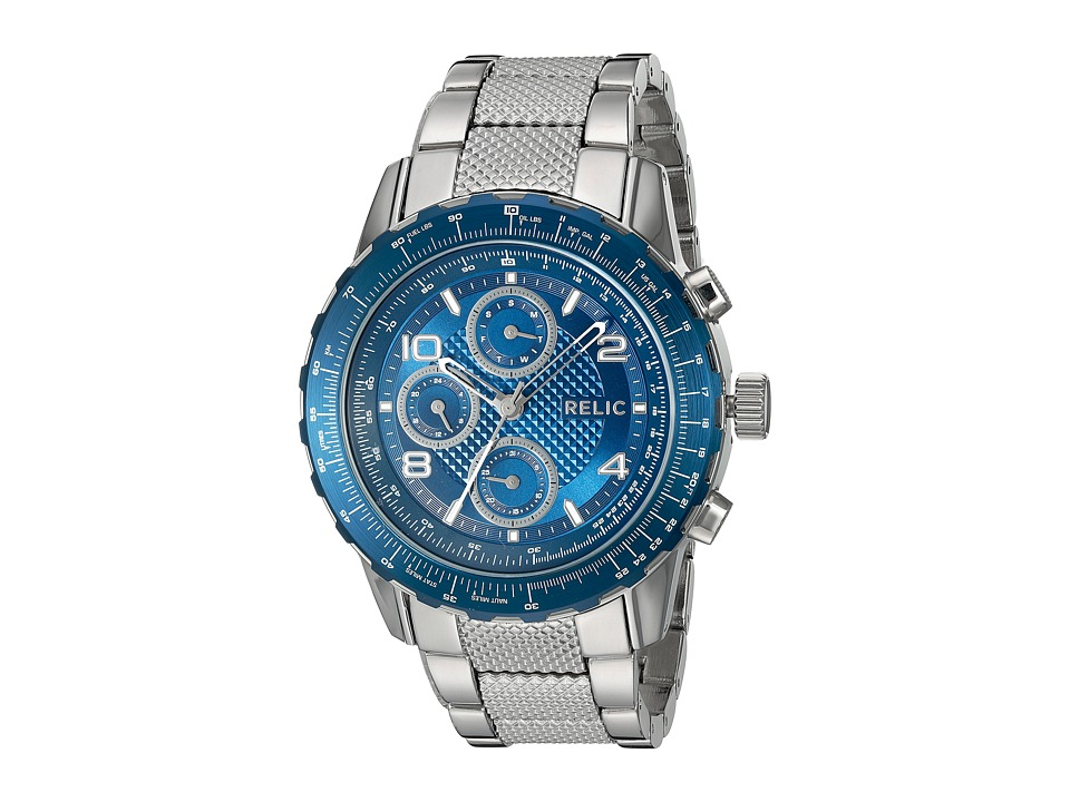 Relic - Ryder (Silver Tone/Blue) Watches