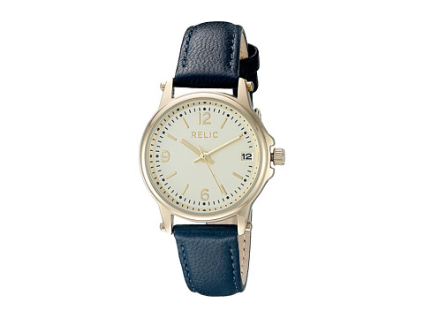 Relic - Matilda Strap (Navy Leather/Gold Case) Watches