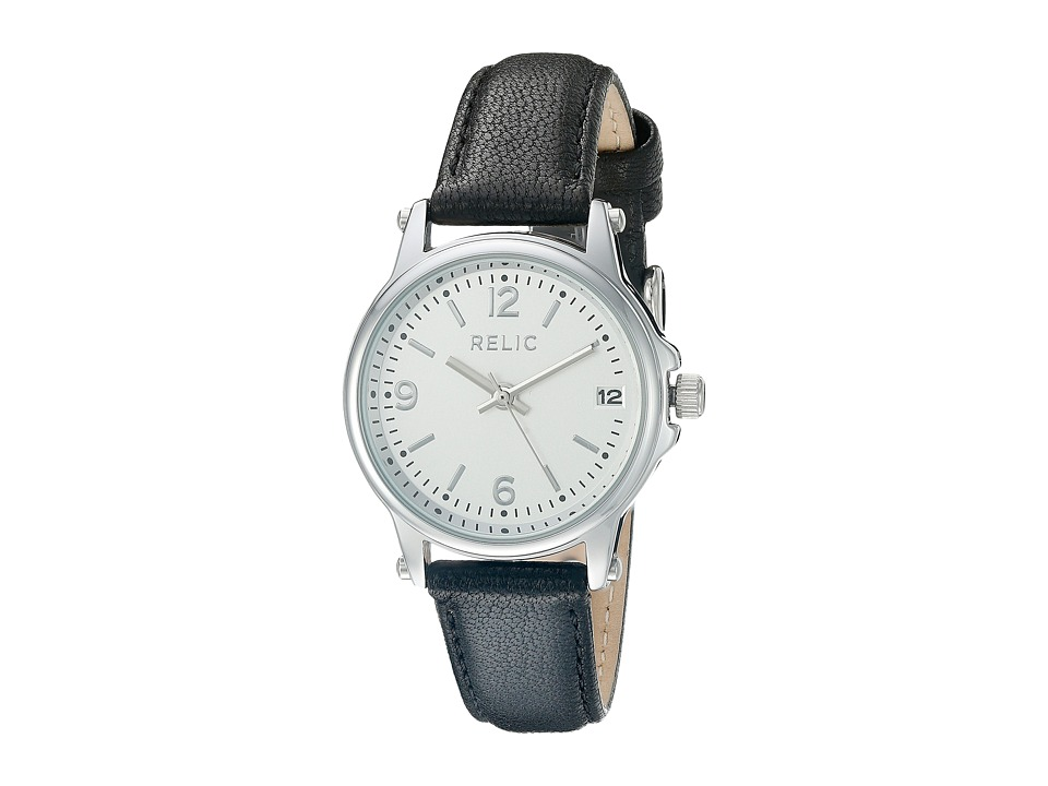 Relic - Matilda Strap (Black Leather/Silver Case) Watches