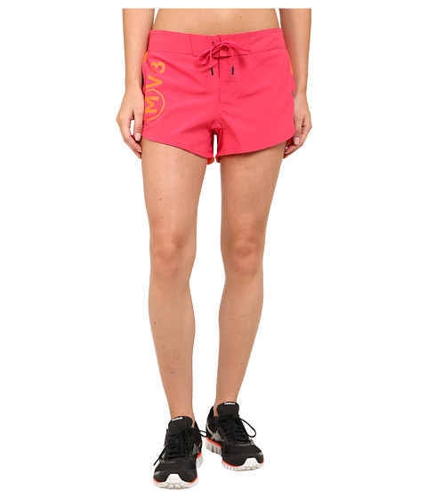 Reebok - ONE Series Shorts Print (Black/Pink) Women's Shorts