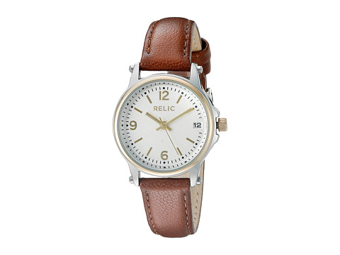 Relic - Matilda Strap (Brown Leather/Gold Case) Watches