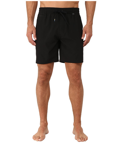 Hurley - Phantom One and Only Volley Shorts (Black) Men's Shorts