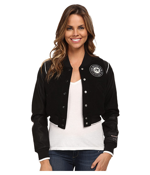 Reebok - ME Letterman Jacket (Black) Women's Coat